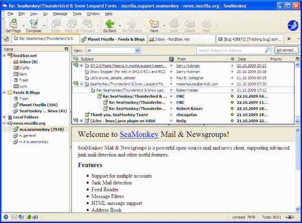 Seamonkey email client
